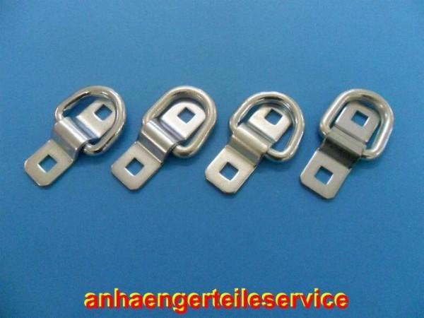Ladungssicherung Zurröse Zurrmulde Zurrring ohne Schrauben - 4 Stück - Neu L2966