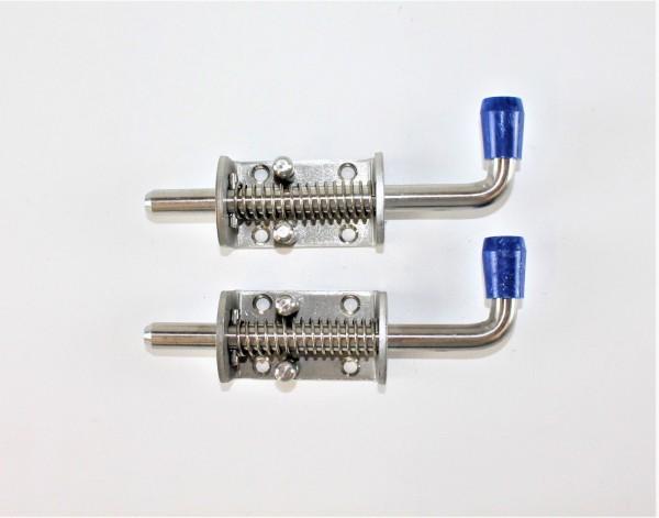 2 Stück Edelstahl Federriegel Federverschluss 12 mm rostfrei Riegel L2513.1