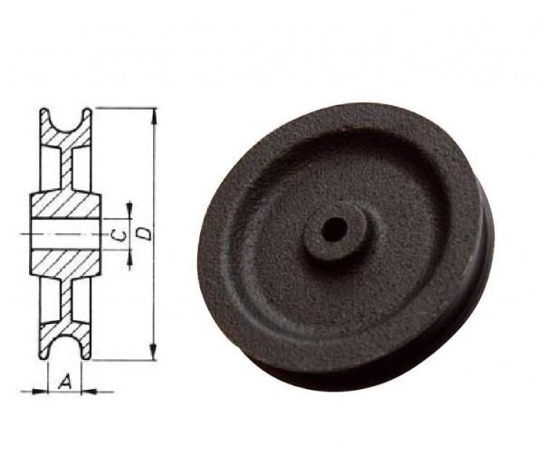 Seilrolle 80 mm Stabilere Ausführung aus Spezial-Eisenguss NEU L0459.1