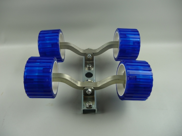 4er Slipwagen Sliprollen Bootsauflage Rolle aus Polyvinyl blau L3080K