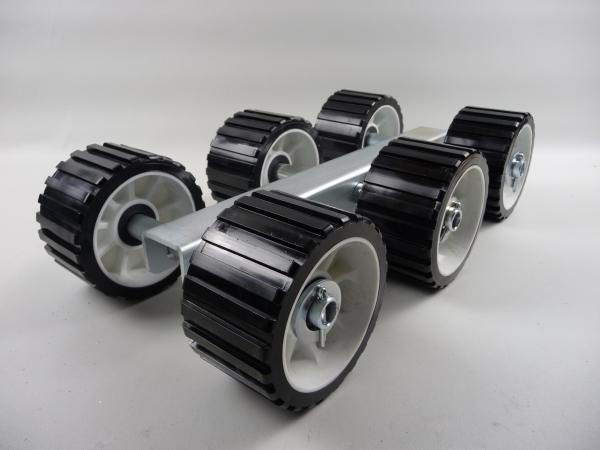6er Slipwagen Sliprollen Bootsauflage Rolle aus Polyvinyl schwarz L3090P