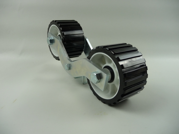 2er Slipwagen Sliprollen Bootsauflage Rolle aus Polyvinyl schwarz L3030-3076
