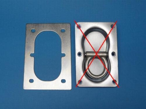 Gegenplatte für Doppelseitige Zurrmulde verzinkt 125x165 mm 1000 daN Neu L02741