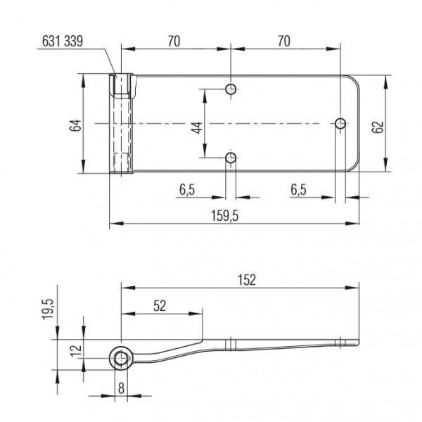 Scharnier Heckklappen Scharnier Türscharnier zum anschrauben AluminiumL631332-34