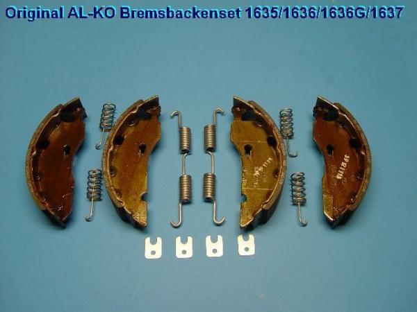Bremsbacken Bremsbelege Original Kit für Alko Bremsen 1635/1636/1637 140115