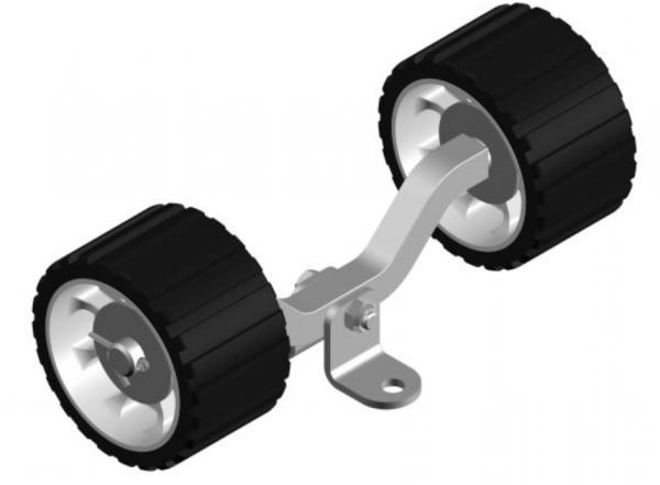 Sliprollen Bootsauflage Kielrolle Rolle aus Polyvinyl Farbe Schwarz Wippe L3076K
