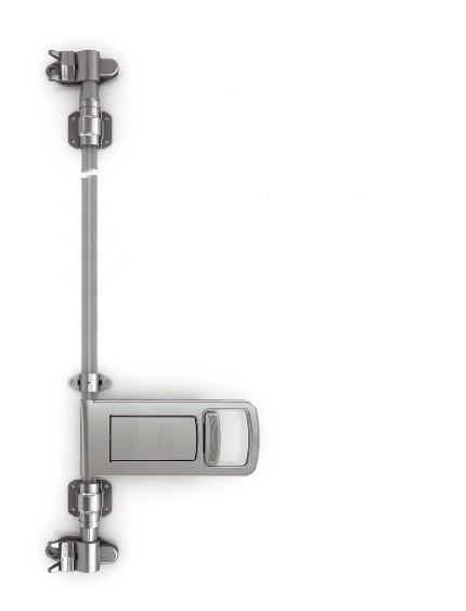 Drehstangenverschluss Verschlussriegel Aufbau-Set EDELSTAHL Ø 27 Rohr L228510NEU