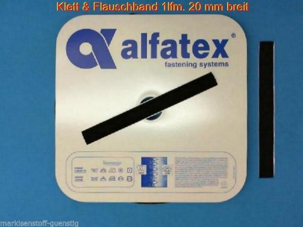 Alfatex Klettband & Flauschband 20 mm breit mit Kleber Neu L300020