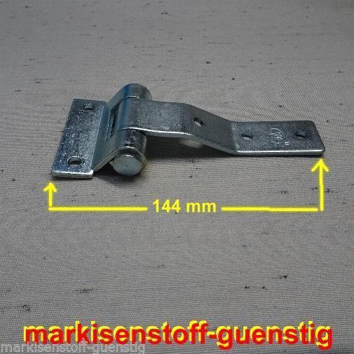 SPP Türscharnier ZW 02 106A gekröpft zum anschrauben Metall verzinkt L2501.1