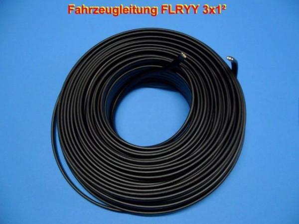 FLRYY 3x1² mm Fahrzeug Kabel Flach Schwarz für Anhänger Trailer Neu L0301F