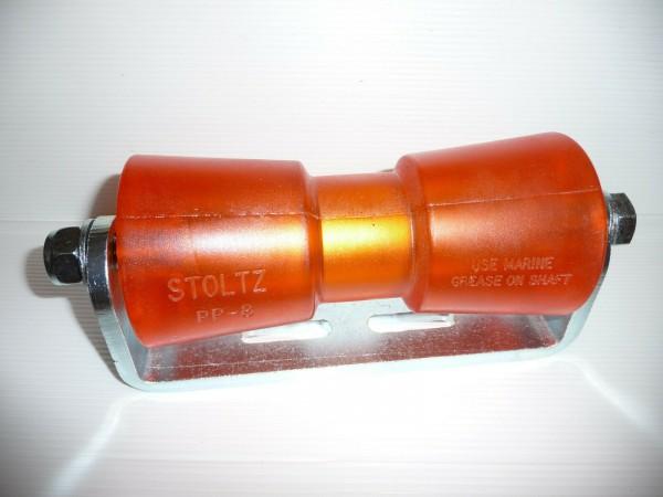 Stoltz Sliprolle Bootsauflage Kielrolle Rolle 200 mm Polyvinyl inkl. Halterung