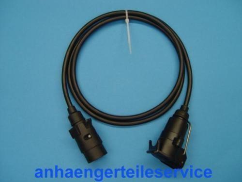 Verlängerung Kabel 7 Polig Stecker/Kupplung 25cm Neu L03082