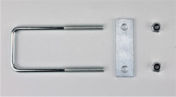 Bügelschraube Klemmplatte+Muttern M10 Lichte Weite 122 mm L Höhe 70 mm U70122S