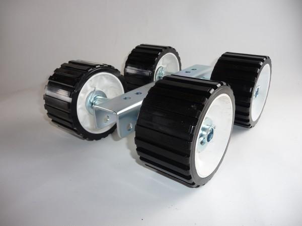 4er Slipwagen Sliprollen Bootsauflage Rolle aus Polyvinyl schwarz L3082P