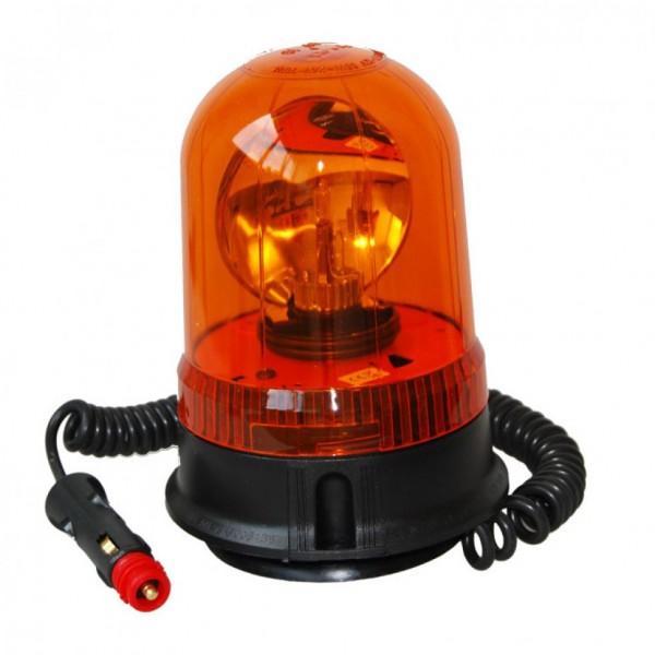 AJ.BA Rundum-Leuchte in gelb mit Magnetsockel und Gummisauger