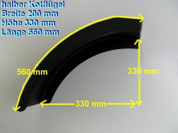 PVC Anhänger Kotflügel aus Bruchfestem 20 cm Breit 33 cm Hoch Neu L0146.7