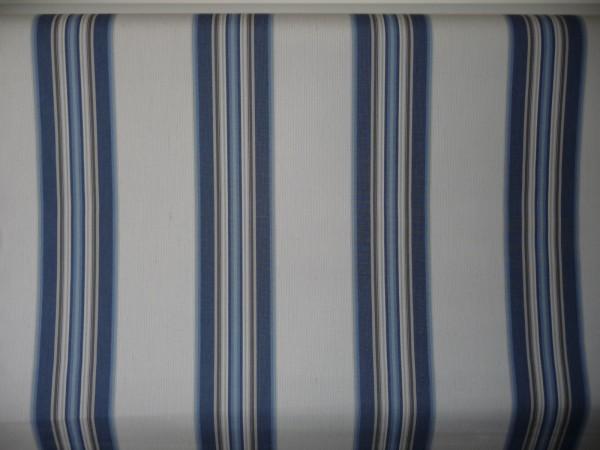 Markisenstoff Markisentuch Sonnensegel Windschutz Stoff 1.lfm Neu M565 BLAUWEISS