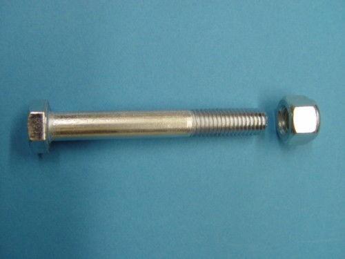 Schraube Sechskantschraube mit Mutter Güte 10.9 M12x130 mm Kugelkupplung M12130