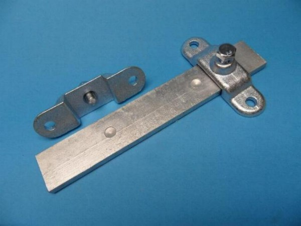 2 x Rungenhalter plus 1 Flachstahl verzinkt für die Bordwanderhöhung NEU L9100