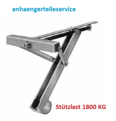 Ausdrehstütze Kurbelstütze für Anhänger,Wohnwagen, Verkaufswagen 1800 KG L148082