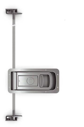 Drehstangenverschluss Verschlussriegel Einbau-Set EDELSTAHL L228560