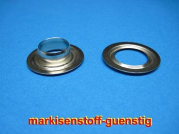 10 mm Nirosta Ösen mit Scheibe Ø innen 10mm Ø aussen 20 mm 25 Stück Neu L9210
