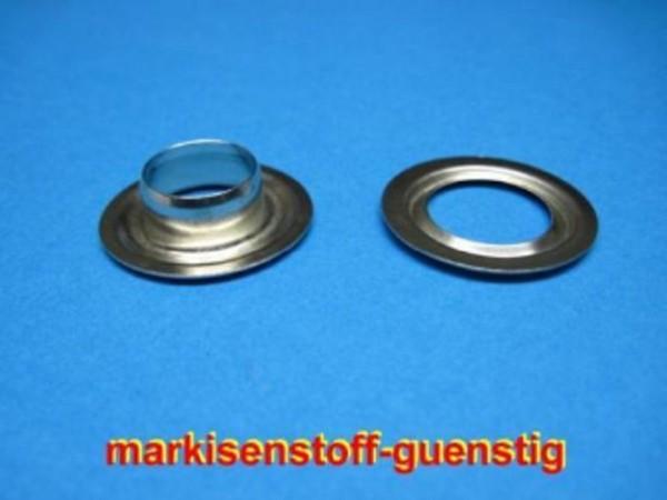 16 mm Nirosta Ösen mit Scheibe Ø innen 16mm Ø aussen 30 mm 25 Stück Neu L9216