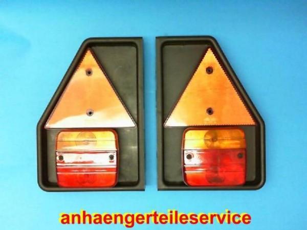 Aspöck PVC Lampenträger Leuchtenträger mit Dreieck und Dreikammerleuchte L0883
