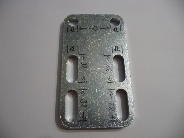 Klemmplatte Montageplatte 135x75 mm