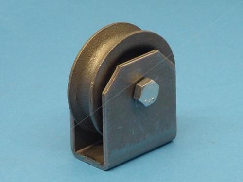 Neu Seilrolle Umlenkrolle 80 mm mit Halter zum Anschweißen oder Schrauben L0459