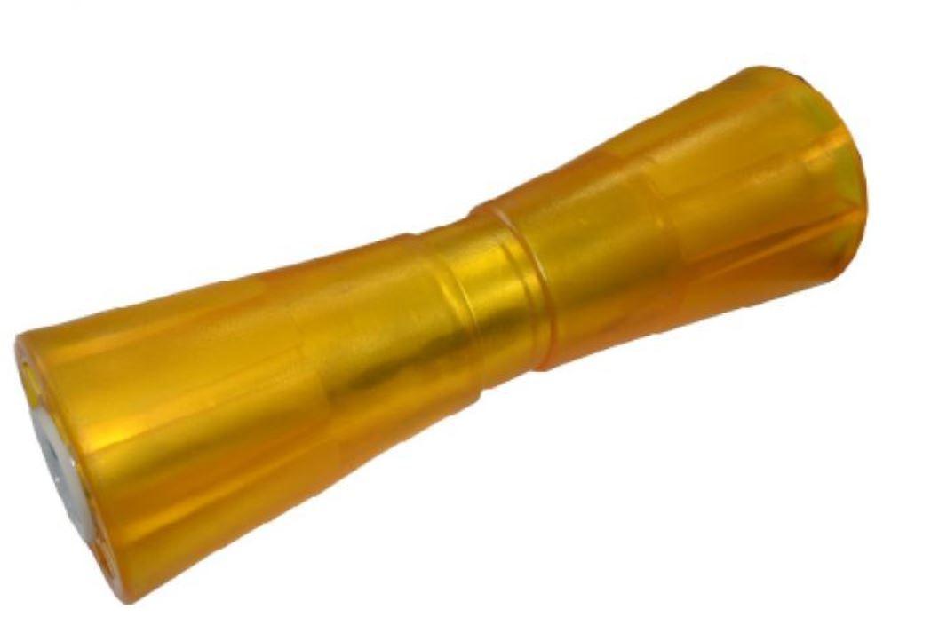 Sliprolle Bootsauflage Kielrolle Rolle 200 mm aus Polyvinyl gelb inkl Halterung