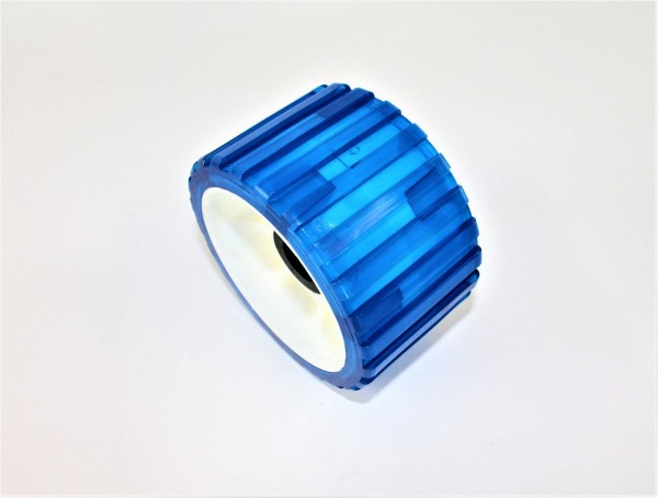 Sliprolle Bootsauflage Kielrolle Rolle aus Polyvinyl Farbe blau Neu L3077