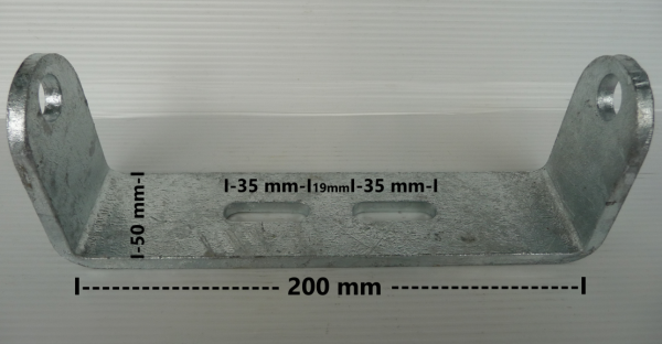 Kielrollenhalter Halterung für Kielrollen Sliprollen 200 mm