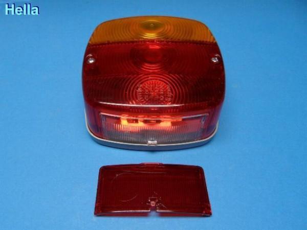 Hella Kompakt Leuchte m. Kennzeichenbeleuchtung E1 Prüfzeichen 43370 Neu L0725