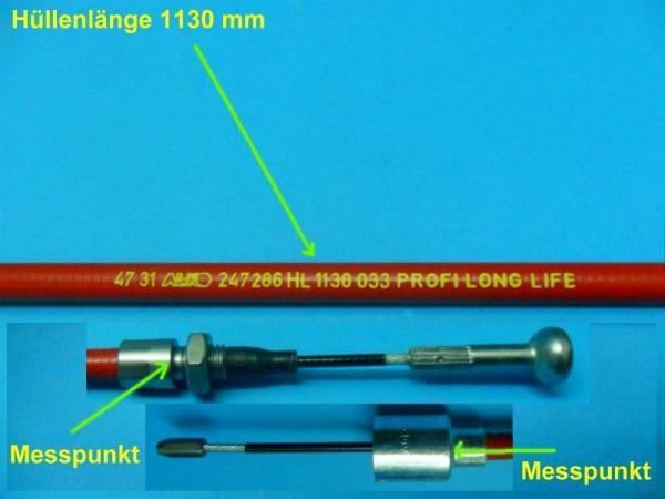 Alko Bowdenzug Bremsseil mit Glocke 26mm und T- Nippel HL1130 mm SL1326 mm L8534