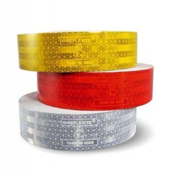 1 m Reflexfolie Farbe ROT Reflektorfolie Konturmarkierung Aufkleber Neu L50055