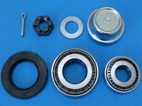 Stema Radlager Set für Knott Achse mit Fettkappe Kronmutter und Splint Neu L0776