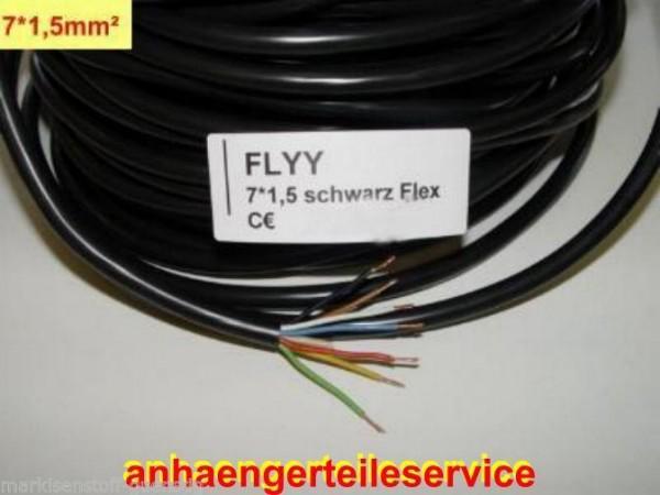 Fahrzeugkabel Kabel für PKW Anhänger Trailer Landmaschinen 7 x 1,5²mm L0308