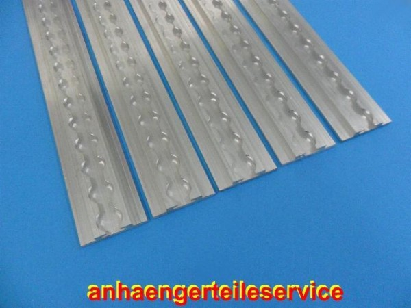 Airlineschiene Alu 700x54x10 mm vierkant in verschiedenen Längen lieferbar L6038