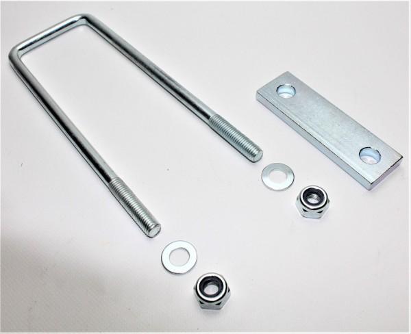 Bügelschraube Klemmplatte+Muttern M10 Lichte Weite 62 mm L Höhe 200 mm U20062S