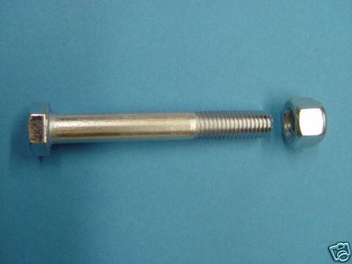 Schraube M14 x 100 mm Güte 10.9 DIN 931 inkl.Mutter für Zugkugelkupplung L14100