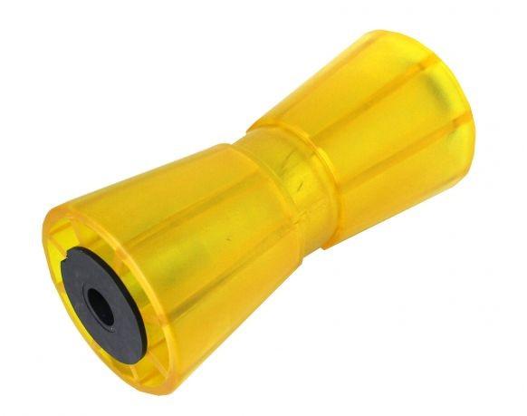 Sliprolle Bootsauflage Kielrolle Bugrolle aus Polyvinyl Farbe gelb L:195mm