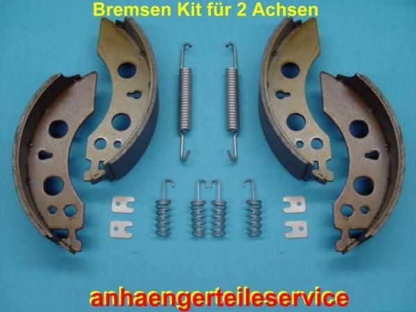 2 x Bremsbacken Bremsbelege Kit für Alko Bremsen 2050/2051 200x50 mm B150041