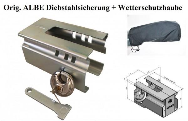 Diebstahlsicherung Albe + Wetterschutz- Haube Neu L0012