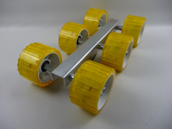 6er Slipwagen Sliprollen Bootsauflage Rolle aus Polyvinyl gelb L3089P
