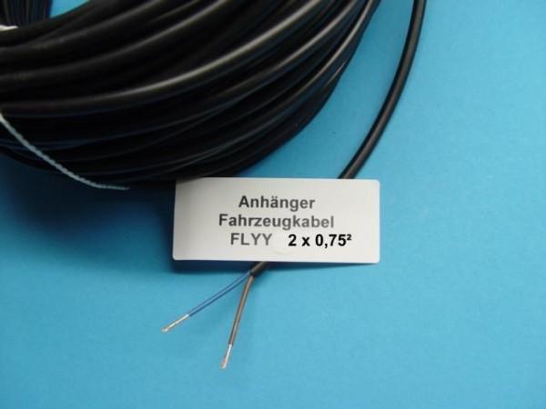 Kabel für Anhänger Trailer Landmaschinen 2 x 0,75² mm 2 Adrig L03001