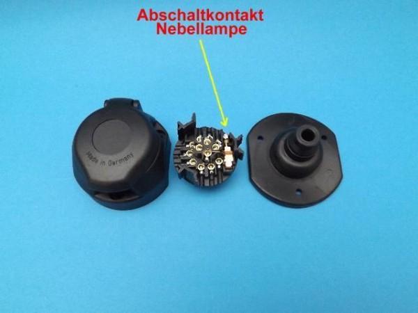 Steckdose mit Dichtung 13 Polig mit Abschaltkontakt für Nebellampe NEU L1157.1