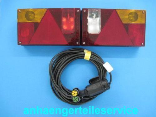 Multipoint 1 Rückleuchten 10 m Kabel 13 Polig Stecker u.Seitlicher Abgang L00948
