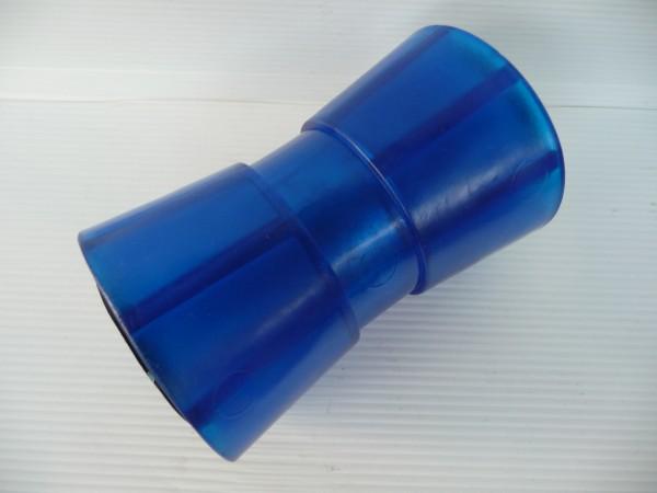 Sliprolle Bootsauflage Kielrolle Bugrolle aus Polyvinyl Farbe blau 133mm 1064036
