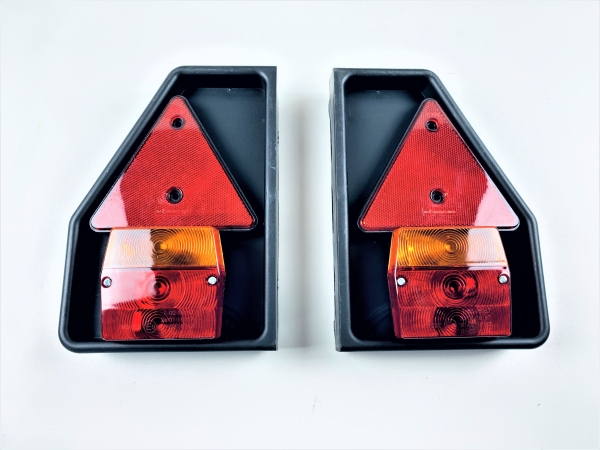 Aspöck PVC Lampenträger Leuchtenträger mit Dreieck und Dreikammerleuchte L0881S